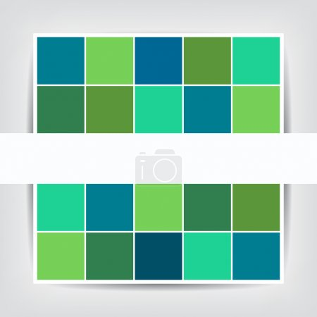 Illustration for Vector illustration design of brochure with Abstract geometric cubes background - Royalty Free Image