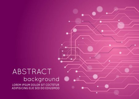 Illustration for Abstract technology circuit board, Vector background. - Royalty Free Image