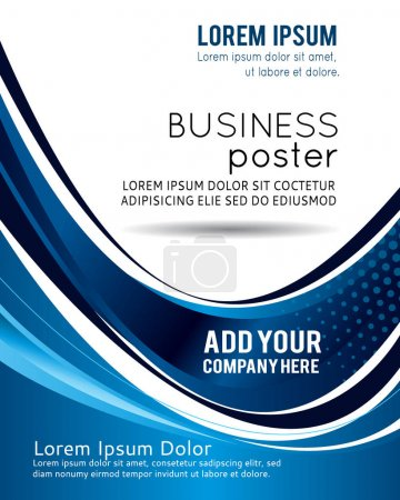 Business design layout template