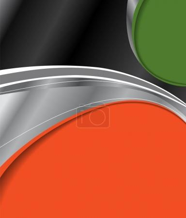 Abstract black and orange background