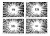 Set comic book speed lines radial background with effect power explosion Geometric monochrome illustration of random abstract shapes Free space in the center for your text