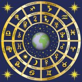 Astrology Signs of the zodiac and the planets rulers characters Vector image