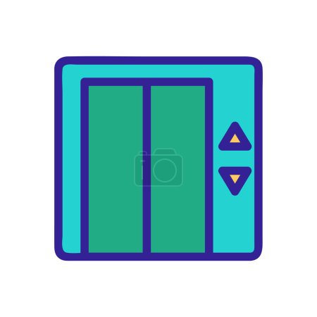 Elevator door icon vector. A thin line sign. Isola...