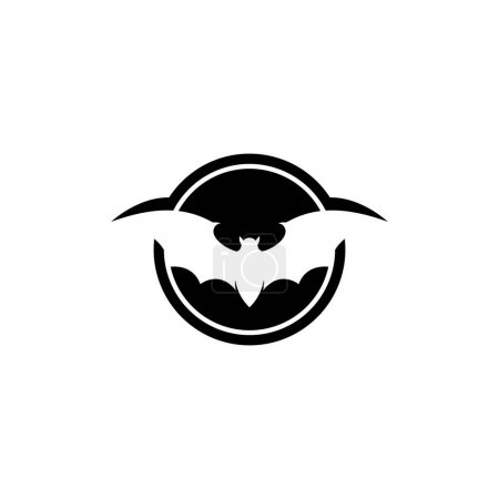 Illustration for Bat icon for web. Isolated on white background illustration - Royalty Free Image
