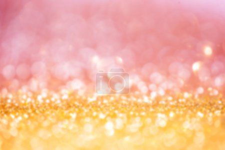 Defocused Bokeh twinkling lights background.