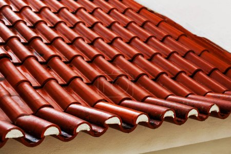 Roof tiles of house