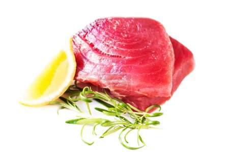 Raw fresh tuna fillet