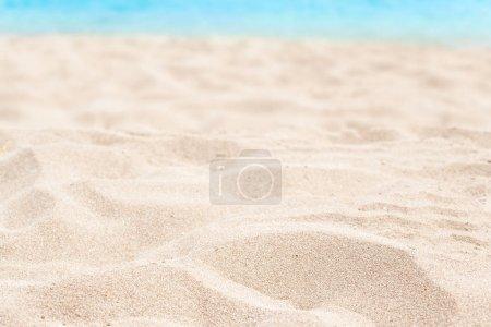 hot soft sand on seashore