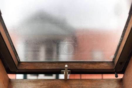 Mansard window on attic
