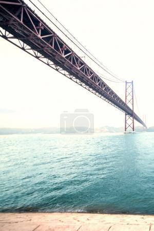 Beautiful Bridge over  river