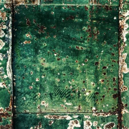 Green texture - old wooden door