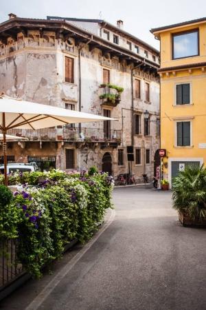 Old Cozy outdoor cafe in Verona