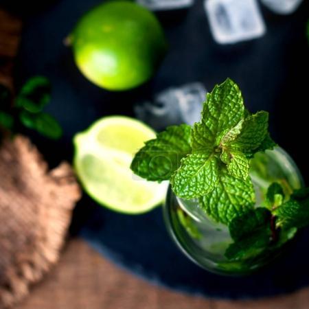 Fresh mojito drink cocktail