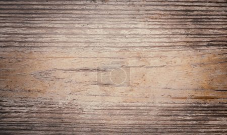 Photo for Vintage  wooden textured background with natural pattern and scratches. Rustic dark surface with wood grainy texture. Old table top - Royalty Free Image