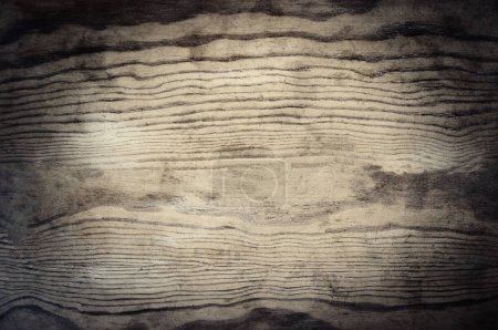 Photo for Vintage  wooden textured background with natural pattern and scratches. Rustic dark surface with wood grainy texture. Old table top close up - Royalty Free Image