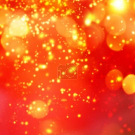 Christmas abstract red lights background
