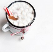 Hot cocoa mug  with marshmallows