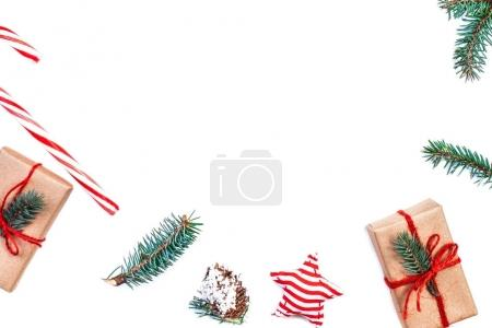 Christmas composition with gifts