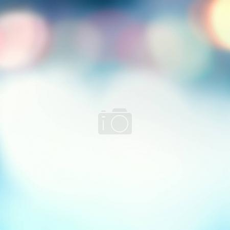 Photo for Abstract Blurred blue city lights  background scene with soft bokeh - Royalty Free Image