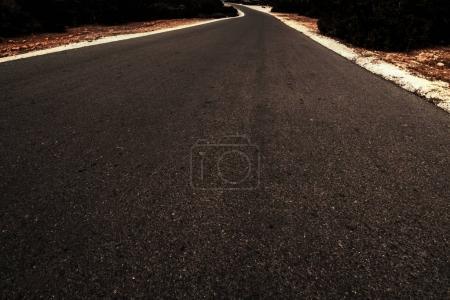 Black Asphalt road  landscape scene with copyspace