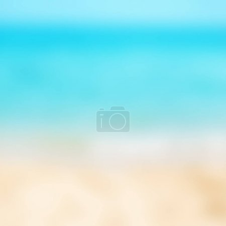 Abstract blur beautiful tropical beach and sea landscape for background - defocused summer image