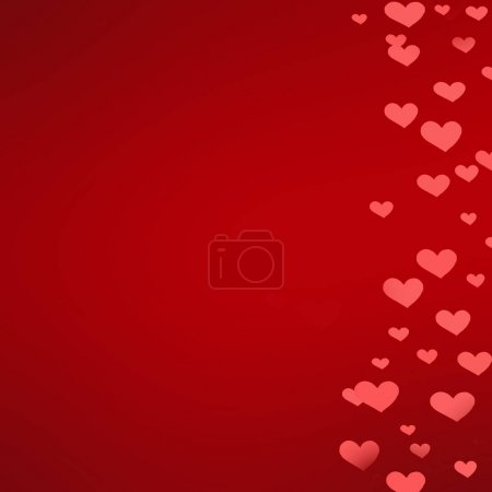 Abstract bokeh background with red hearts shape for  Valentine's Day Card