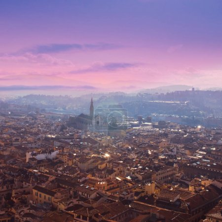 Aerial view of Florence, Tuscany, Italy. View from Cathedral San