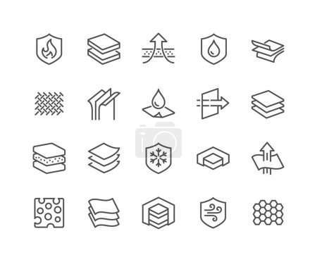 Line Layered Material Icons