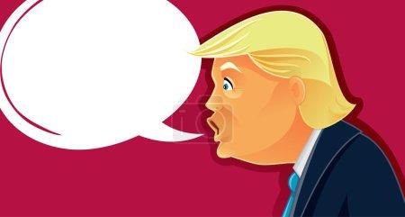 Дональд Трамп Вектор Карикатура