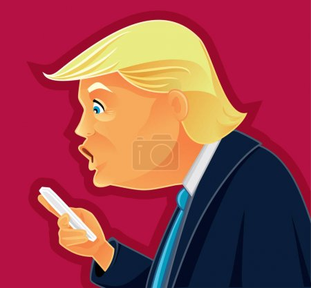 Donald Trump Checking his Phone