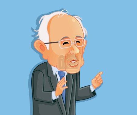 Washington USA, February 8, Bernie Sanders Vector ...