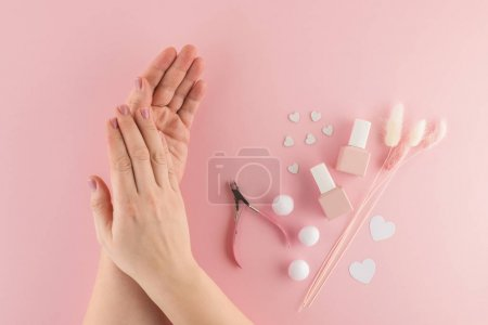 Beautiful female hands after spa procedures for sk...