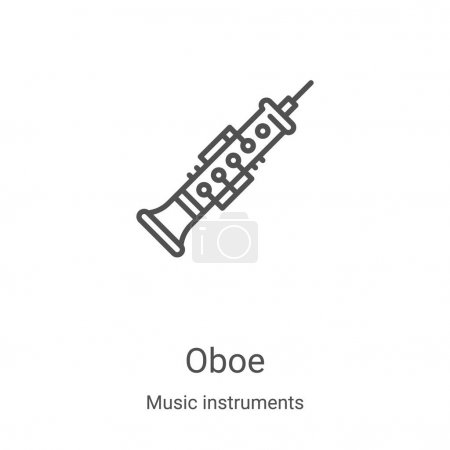 oboe icon vector from music instruments collection. Thin line oboe outline icon vector illustration. Linear symbol for use on web and mobile apps, logo, print media