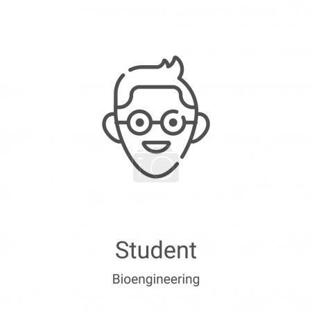 Student icon vector from bioengineering collection...