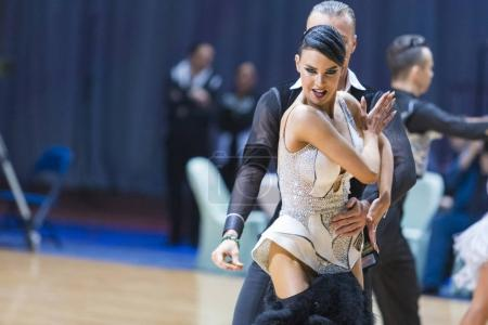 Professional Dance Couple of Kuzin Evgeny and Fedoseeva Anastasia Performs Adults Latin-American Program