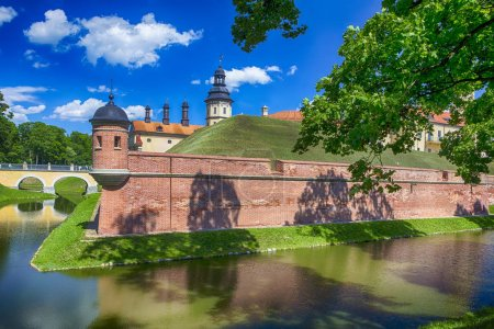 Travel Concepts and Ideas. Side Wall of Renowned Nesvizh Castle
