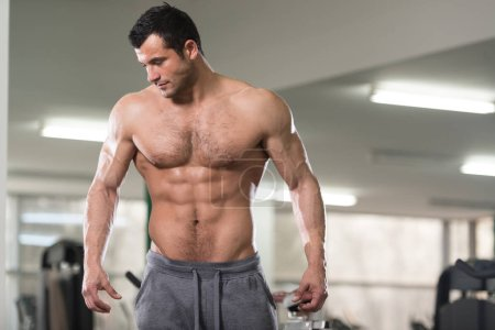 Portrait Of A Physically Fit Muscular Hairy Man