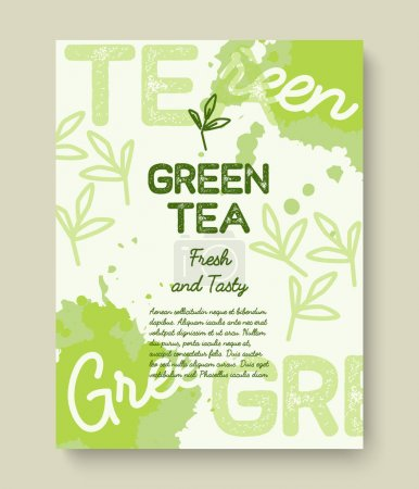 Green tea poster  design.