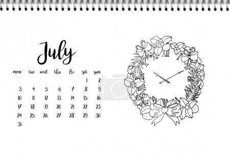 calendar 2017 for month July.