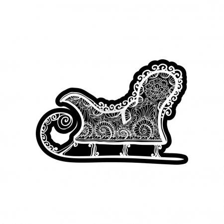 Vintage sledge for winter sport