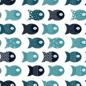 Fish seamless pattern for fabric textile design vector illustration