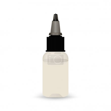 White vape bottle