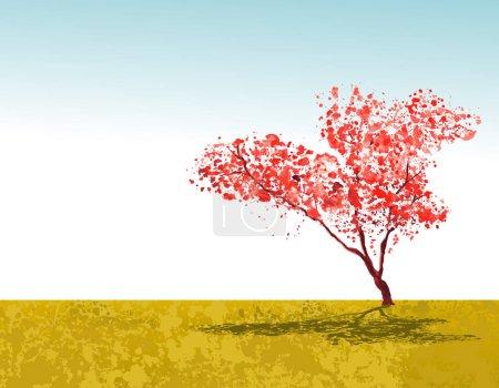 beautiful sakura tree in park