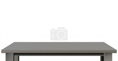 grey and black tabletop isolated