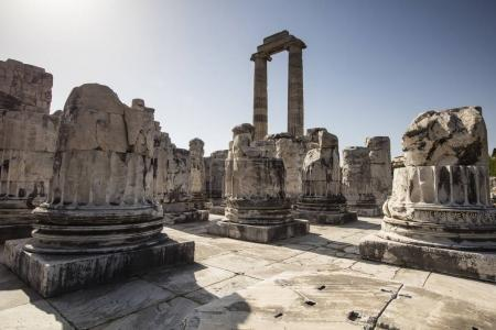View of Temple of Apollo in antique city of Didyma, Aydin,Turkey.