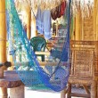 Hammock in a bamboo bungalow h...