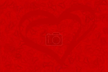 Red background of red hearts for screensavers and ...