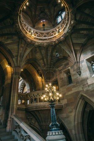 Beautiful ancient interior of John Rylands library