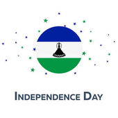 Independence day of Lesotho Patriotic Banner Vector illustration