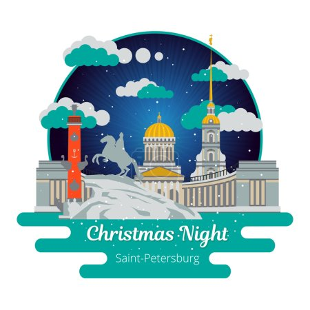 Christmas night in Saint-Petersburg.